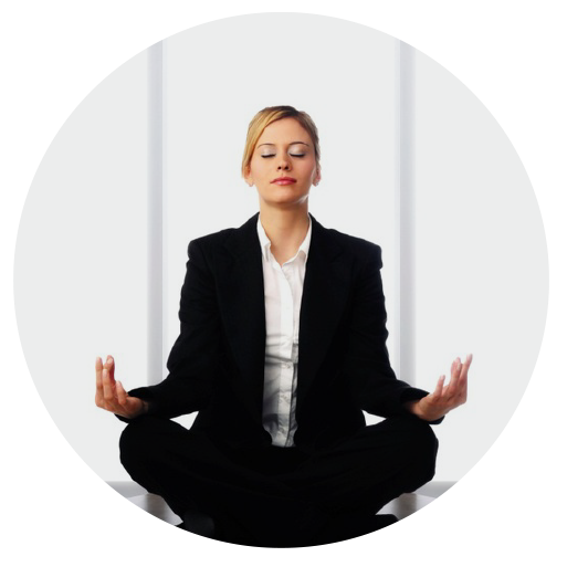 Bizwoman meditating